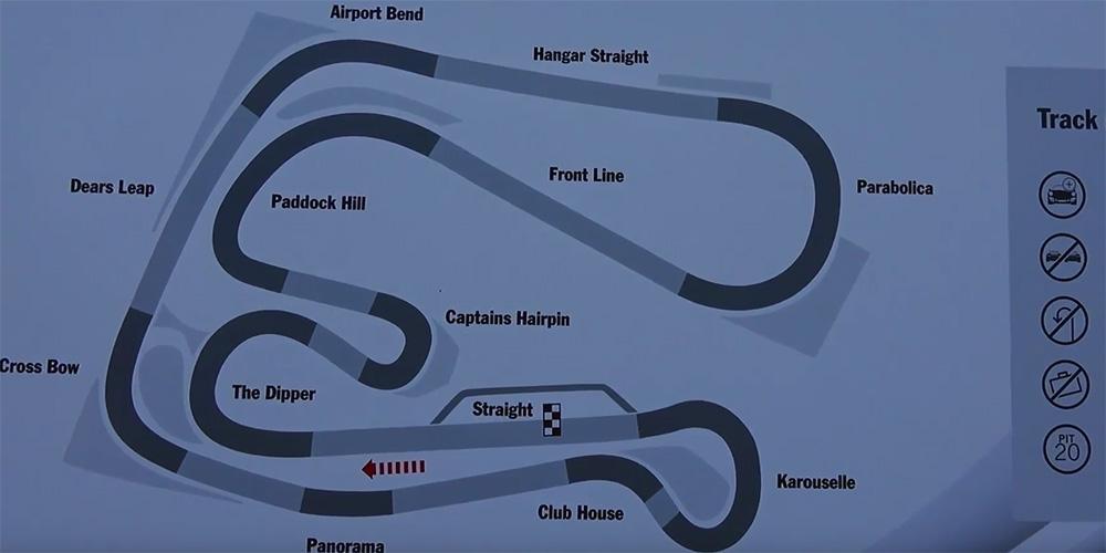 Die Streckenführung des Sturup Raceway.