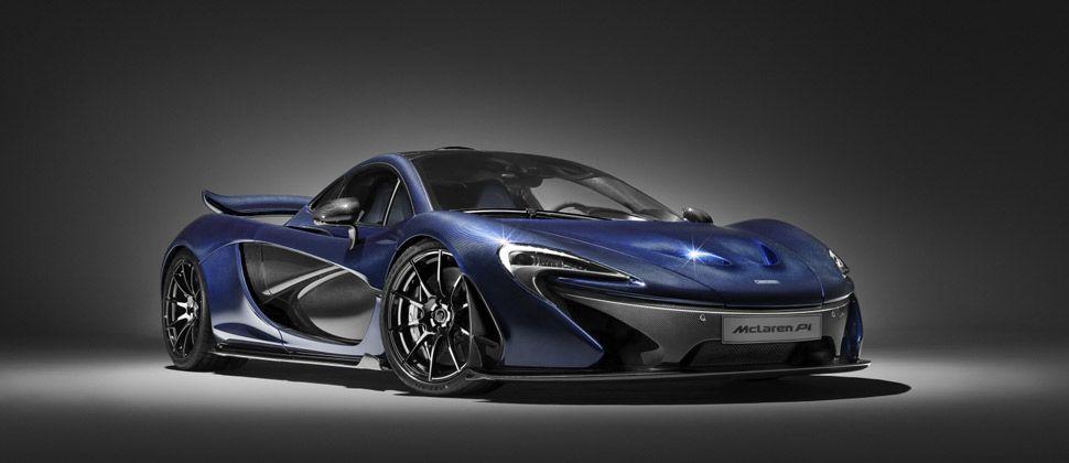 Ein blauer McLaren P1.