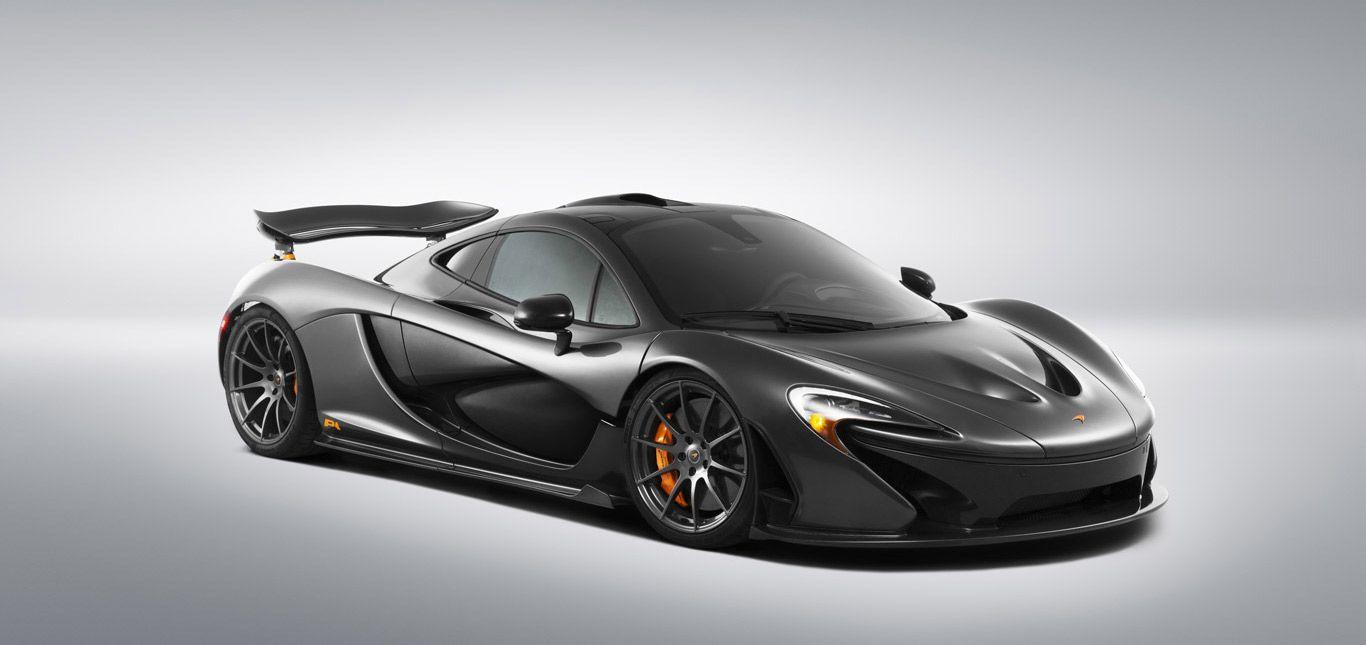 Ein schwarzer McLaren P1.