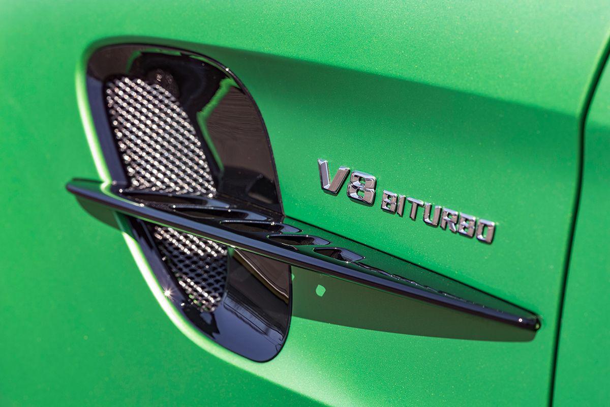 Mercedes AMG GT R seitliches Luftauslassgitter