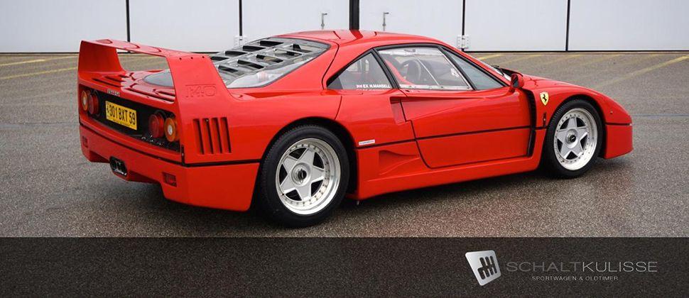Seitenansicht des Ferrari F40 von Nigel Mansell