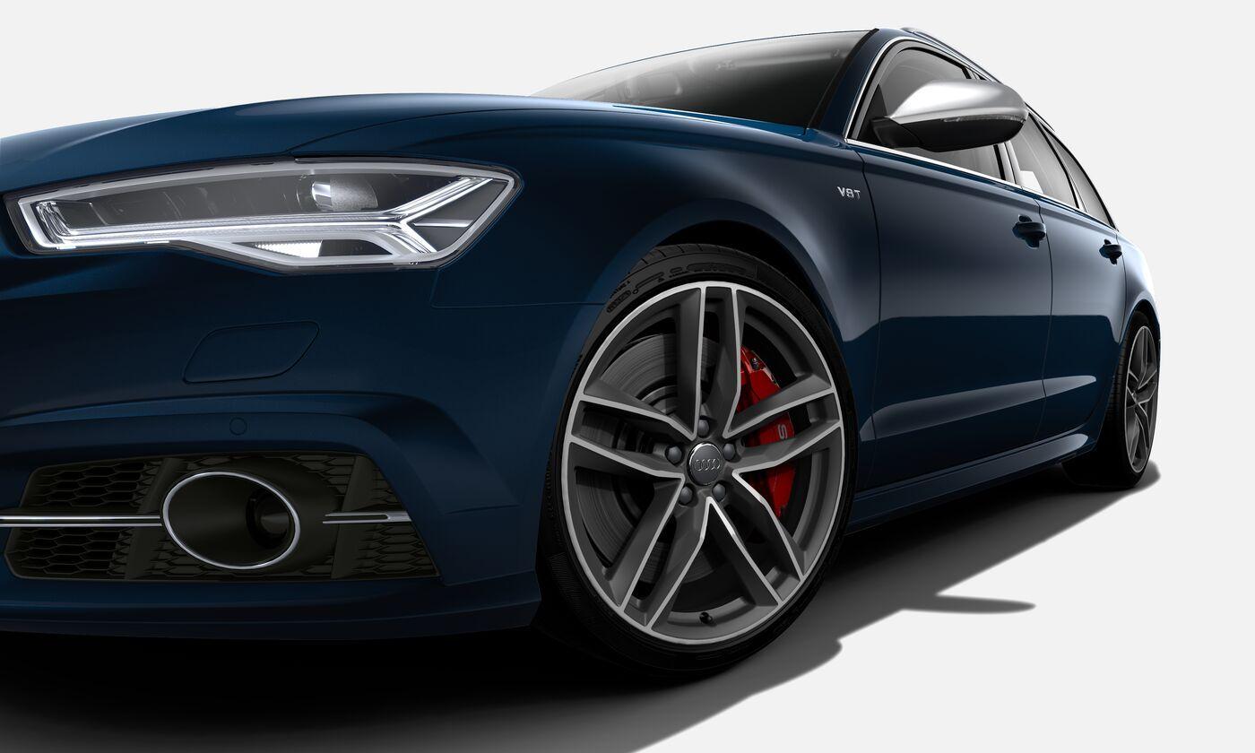 Audi S6 Avant in Blau, Felgen 20 Zoll