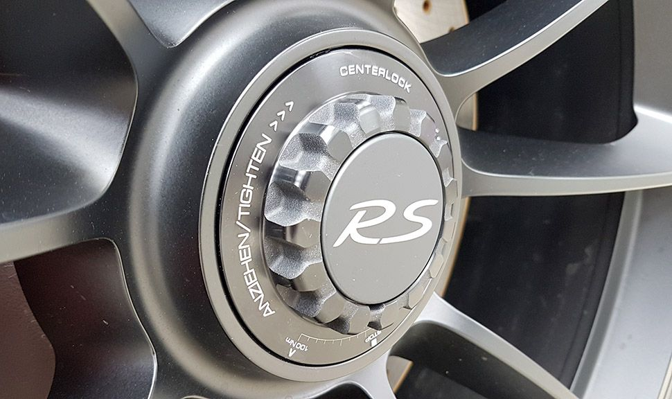 Porsche 911 GT3 RS Felge in Schwarz
