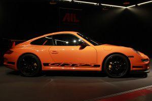 Porsche 911 997 GT3 RS Orange Seitenansicht