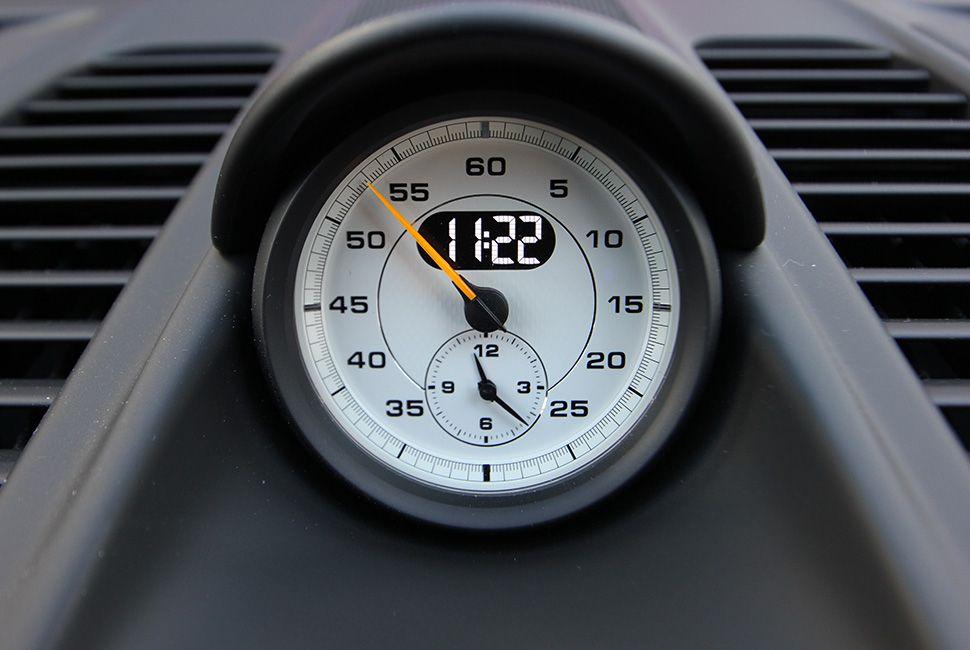 Porsche 911 GT3 RS Sport-Chrono-Uhr mit weißem Ziffernblatt