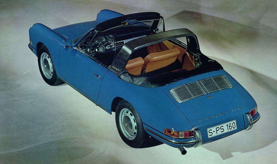 Porsche 911 Targa Urtyp blau