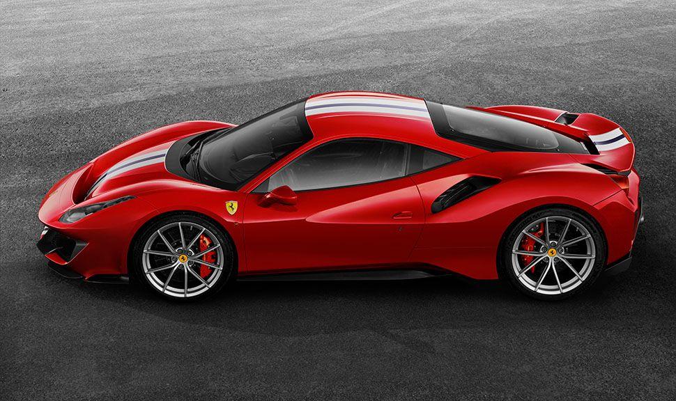 Ferrari 488 pista Seitenansicht