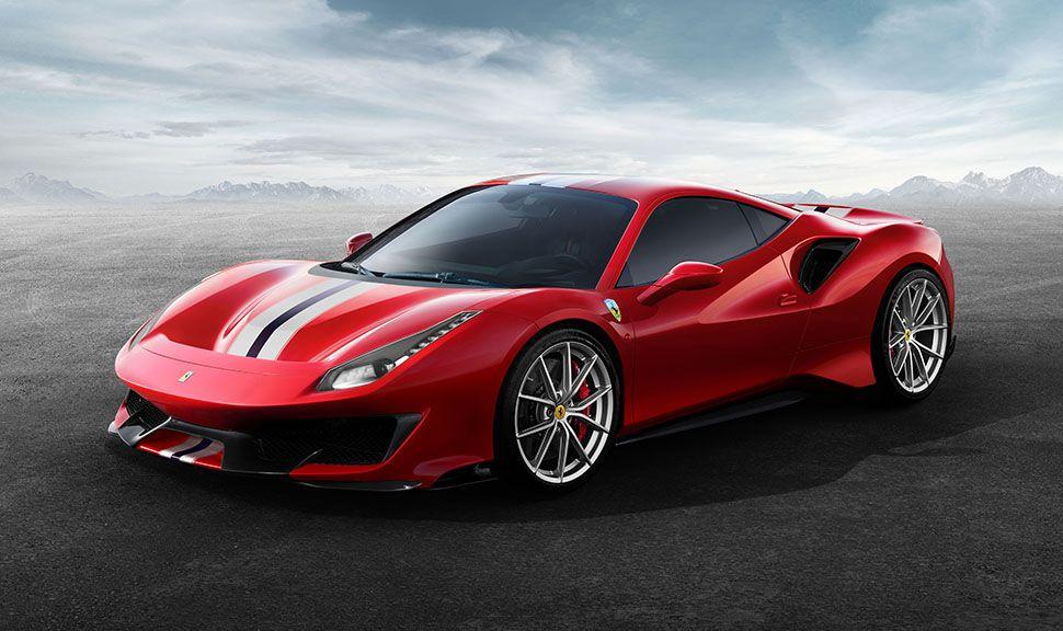 Ferrari 488 pista schräg links vorne