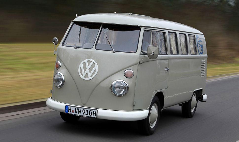 VW T1 grau mit weißem Dach