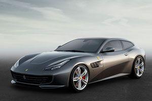 Ferrari GTC4Lusso grau schräg rechts vorne stehend