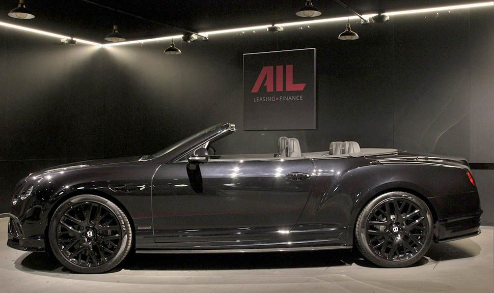 Bentley Continental Supersports Convertible Schwarz Seitenansicht