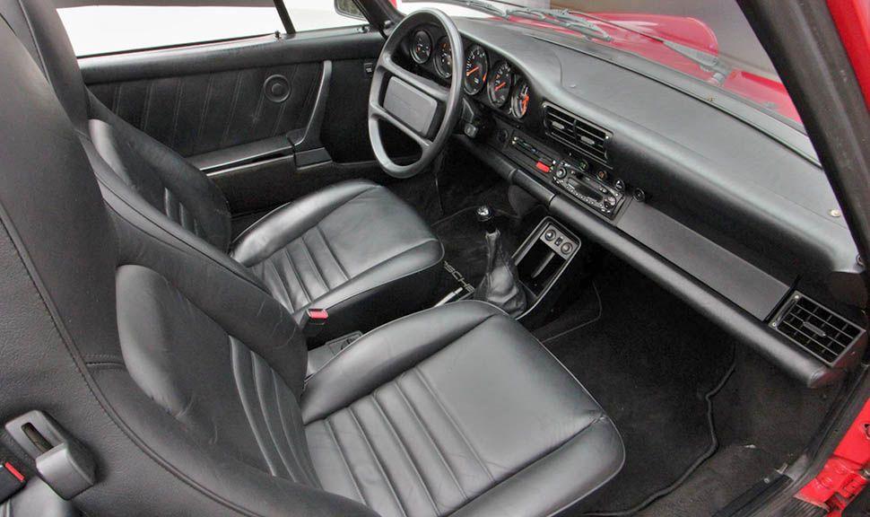 Porsche 911 Carrera 3,2 Cabrio Indischrot Innenraum Schwarz