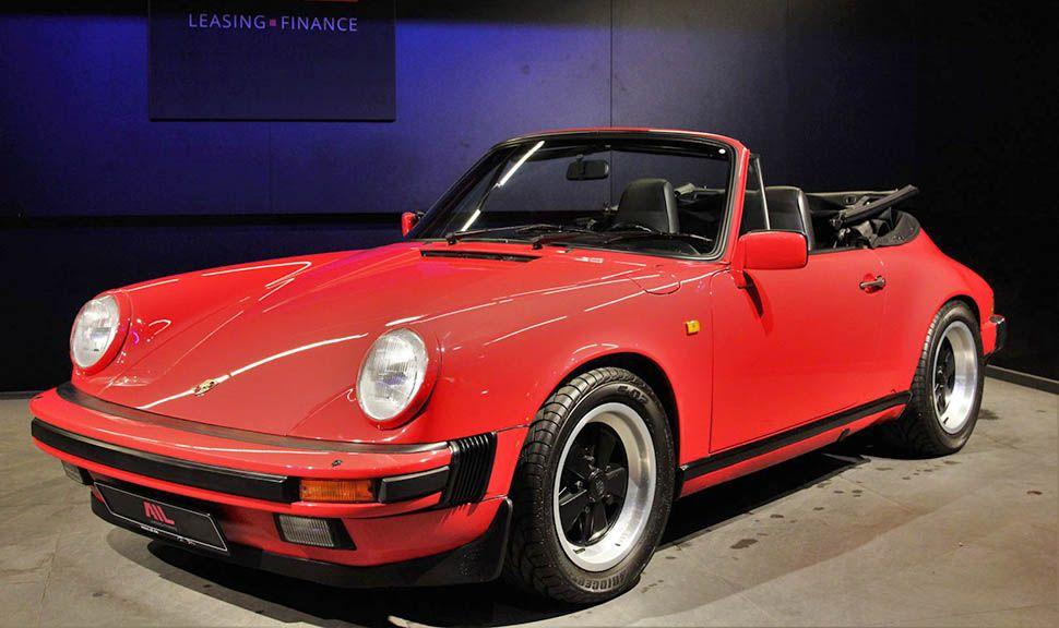 Porsche 911 Carrera 3,2 Cabrio Indischrot schräg links vorne