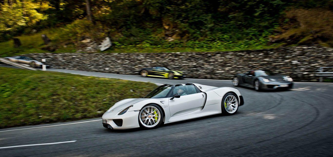 Artikelbild BeschreibungAlpentour mit dem Porsche 918 Spyder6522