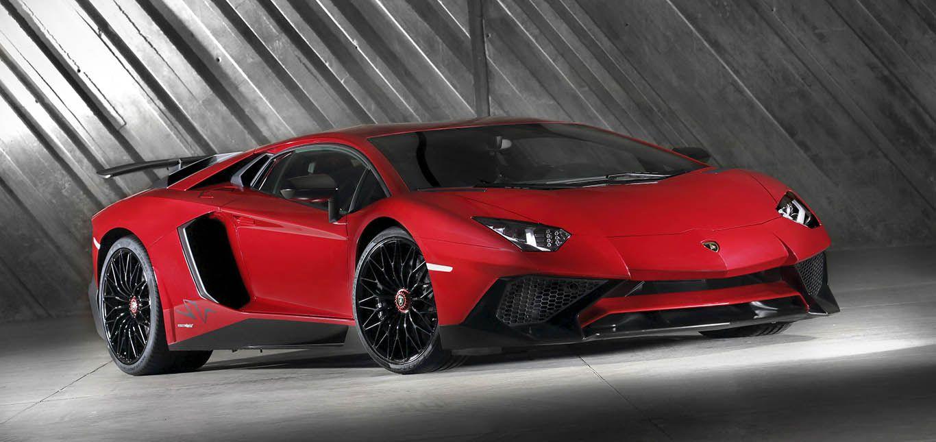 Lamborghini Aventador LP750-4 Superveloce Rot schräg rechts vorne