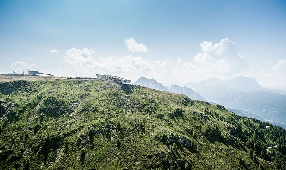 Panorama vom Messner Mountain Museum Corones