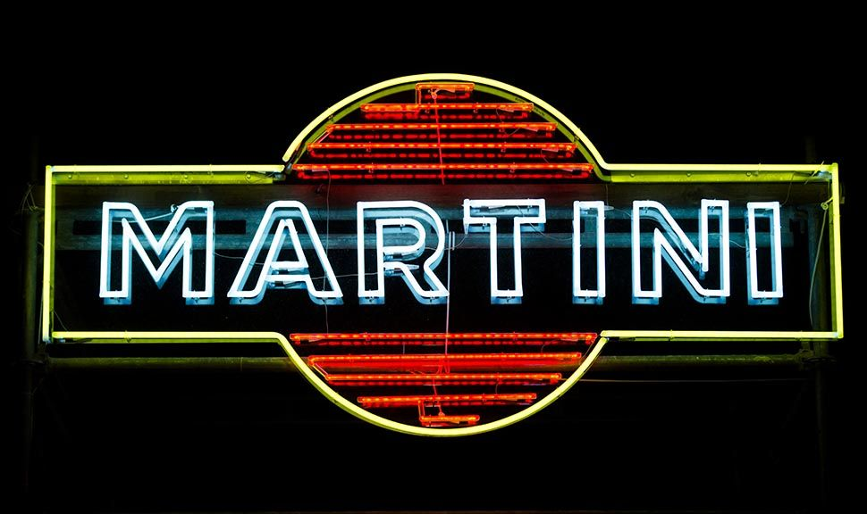 Logo Martini Neonleuchtschrift