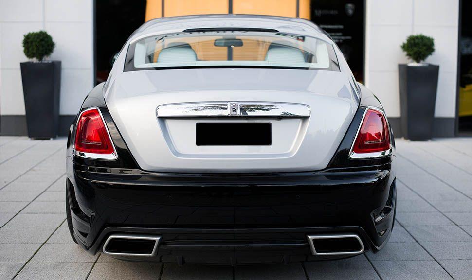Rolls Royce Wraith ARES Design Schwarz-Silber Heckansicht
