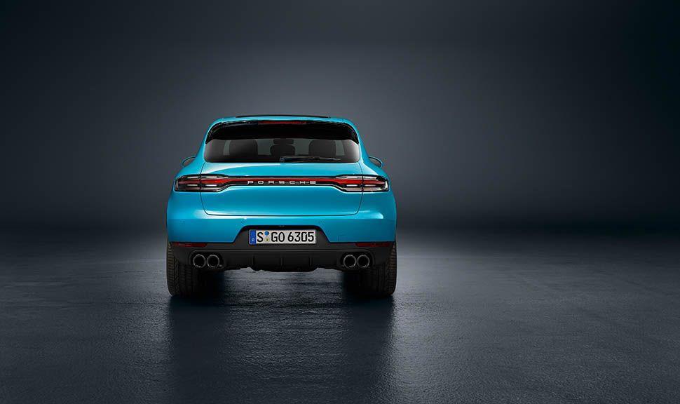 Porsche Macan Facelift Miami Blau Heckansicht