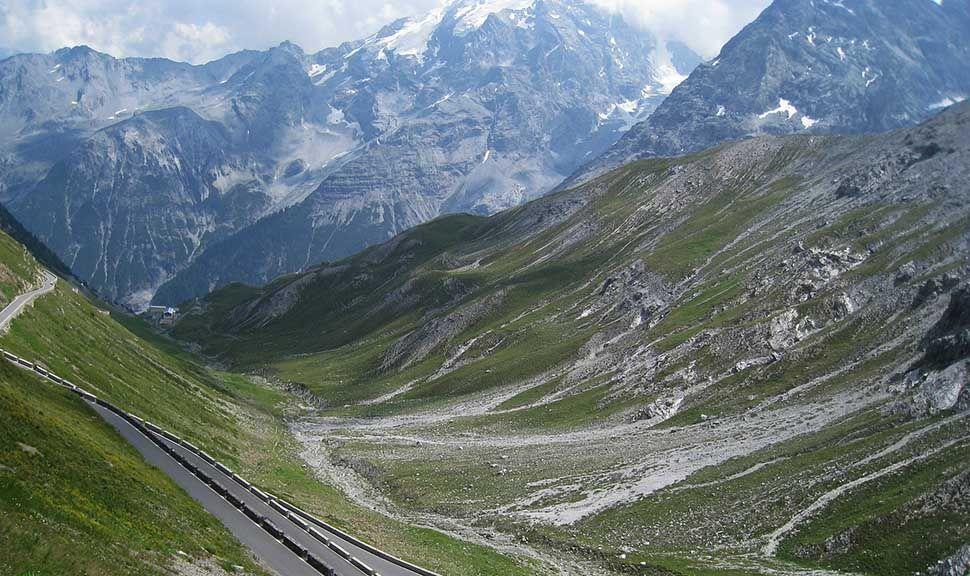 Blick auf Bergpanorama am Stilfserjoch