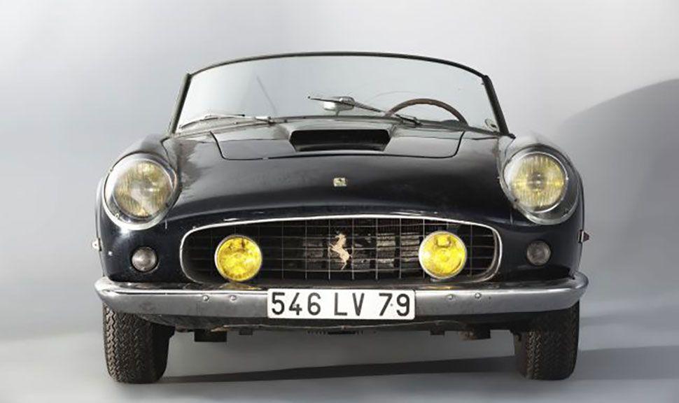 Frontansicht des 1961 Ferrari 250 GT SWB California Spider