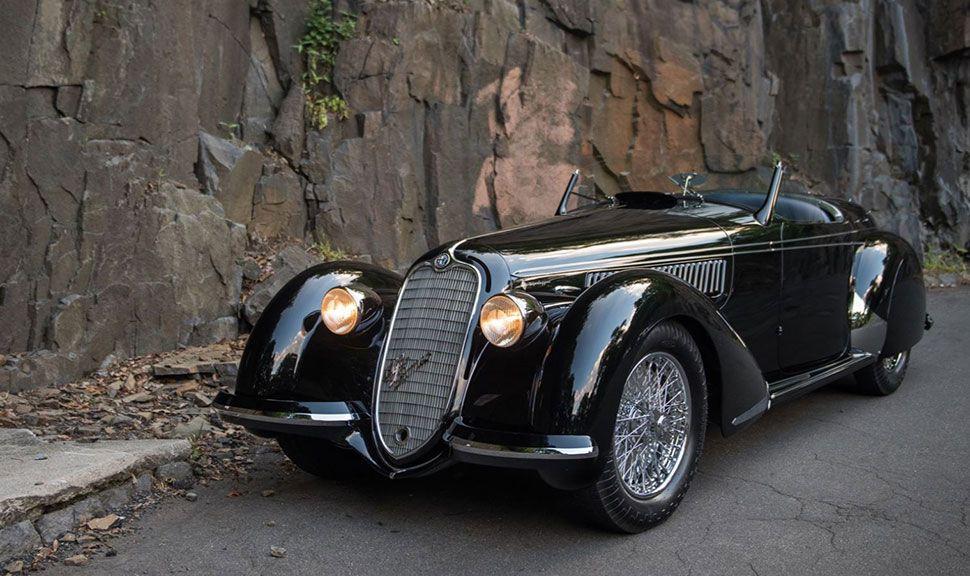 Alfa Romeo 8C 2900B Lungo Spider Front und Seite