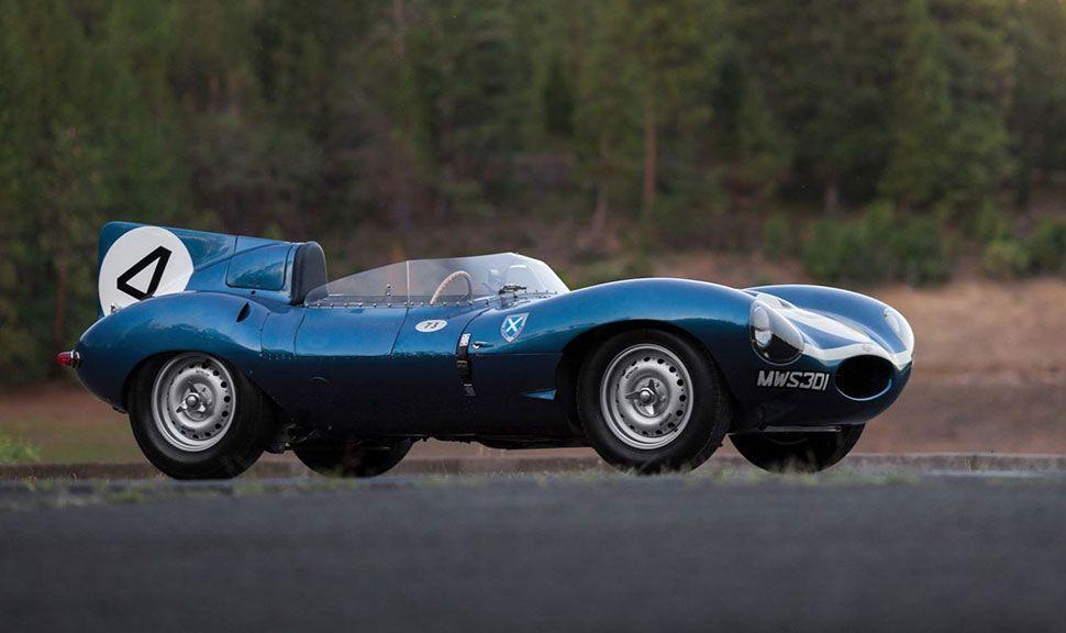 Seitenansicht des Jaguar D-Type