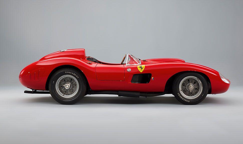 1957 Ferrari 335 Sport Scaglietti in der Seitenansicht