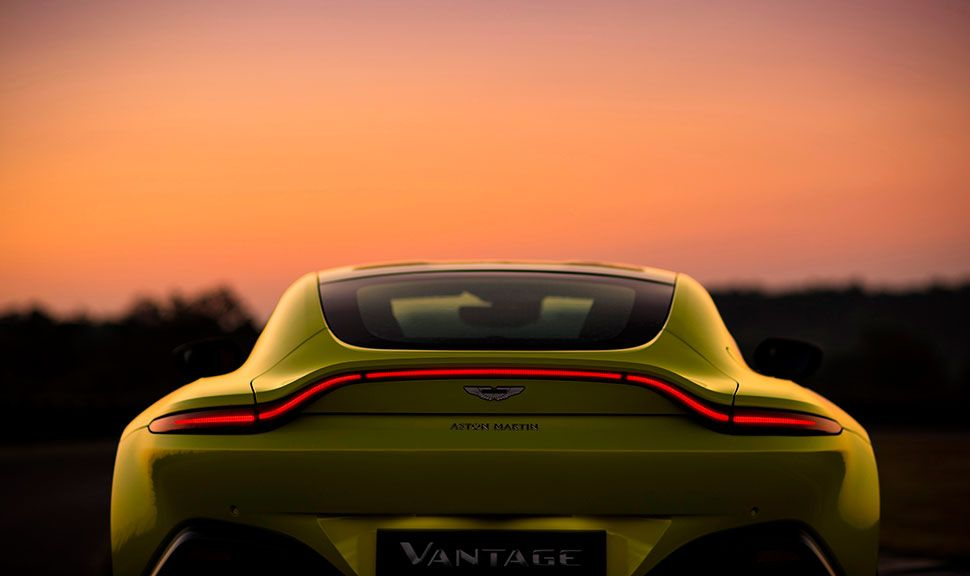 Heck des Aston Martin Vantage