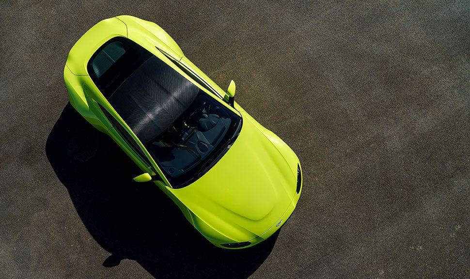 Dach des Aston Martin Vantage
