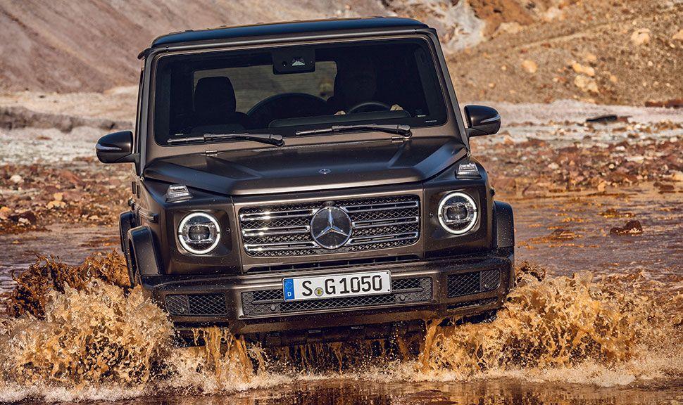 Frontansicht der Mercedes G-Klasse