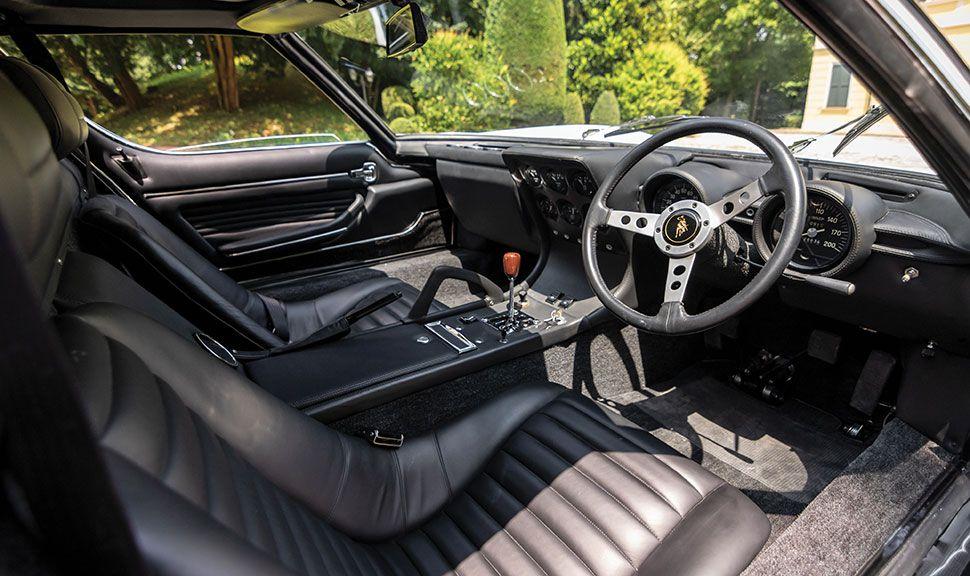 Innenraum des Lamborghini Miura von Rod Stewart