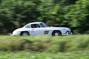 Seitenansicht des Mercedes 300 SL