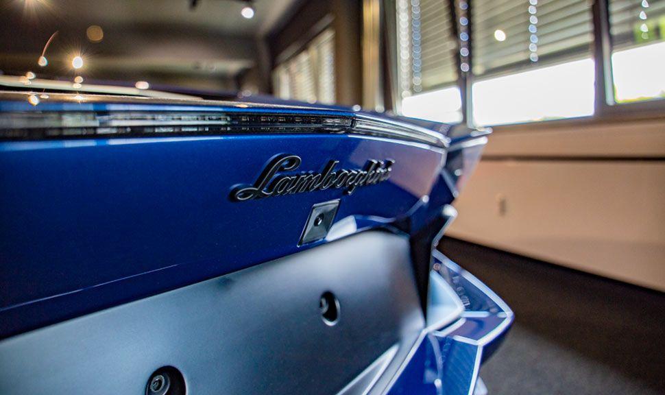 Lamborghini Aventador Miura Homage Detailaufnahme Heck