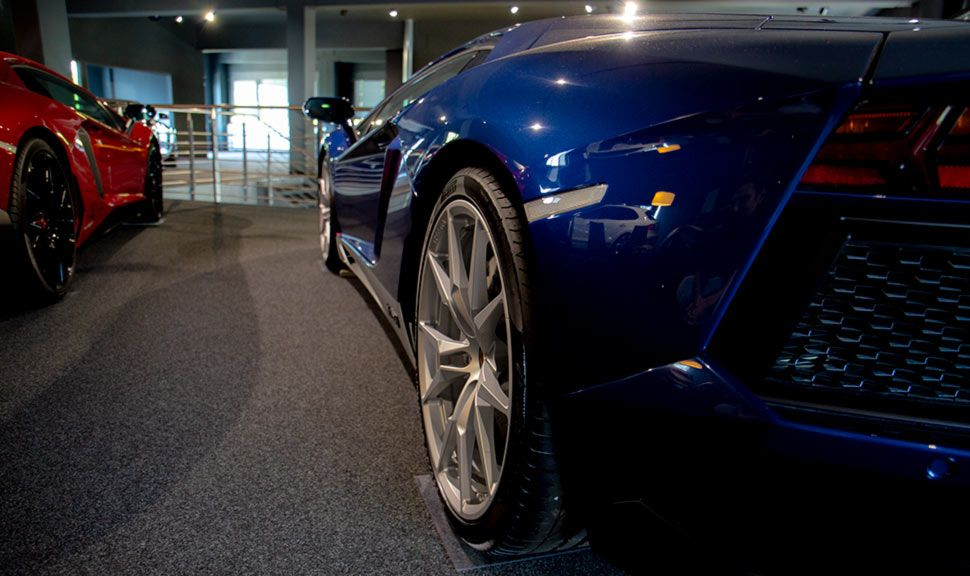 Lamborghini Aventador Miura Homage Detailaufnahme schräg links hinten