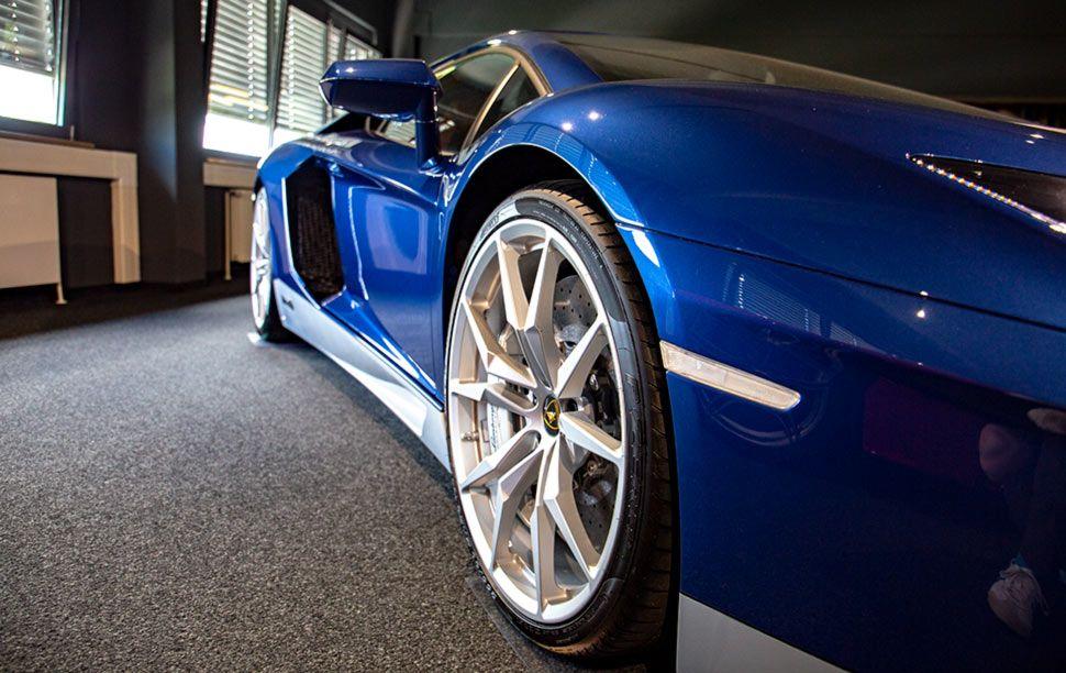 Lamborghini Aventador Miura Homage Detailaufnahme vorn rechts