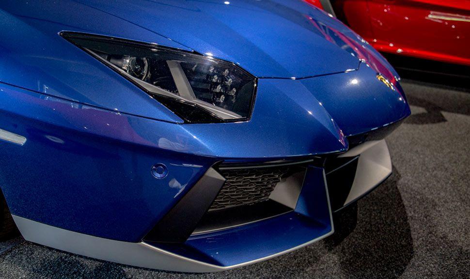 Lamborghini Aventador Miura Homage Detailaufnahme Front von rechts schräg
