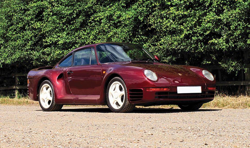 Porsche 959 Rot schräg rechts vorne