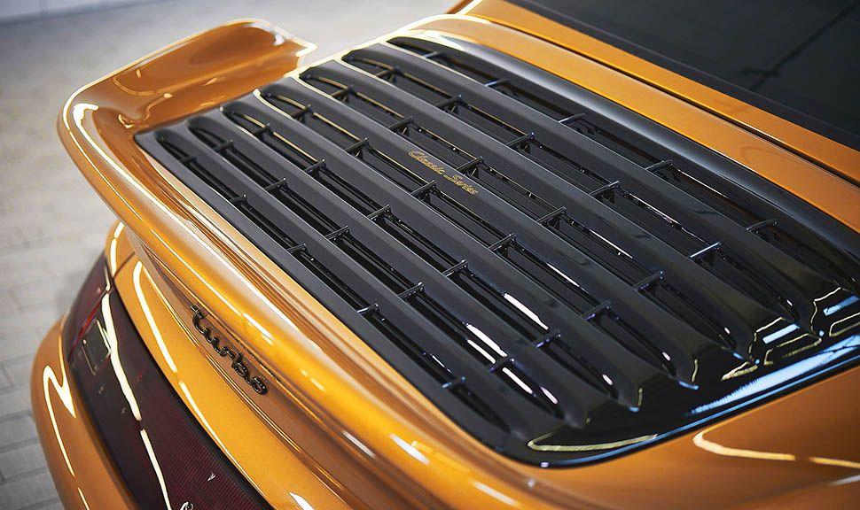 Porsche 993 turbo Gold Heckflügel