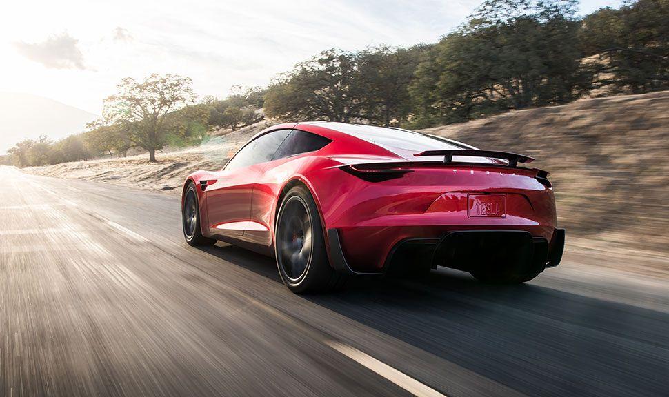 Heck des Tesla Roadster
