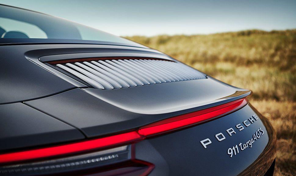 Porsche 911 Targa 4 GTS Exclusive Manufaktur Edition Heck Detailaufnahme