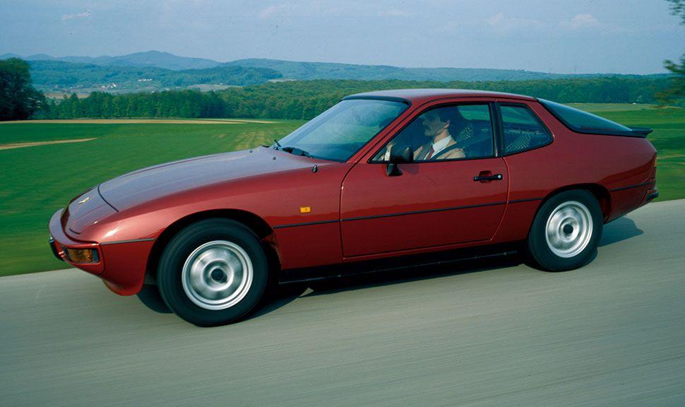 Seitenansicht des Porsche 924