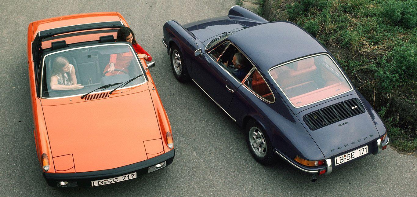Porsche 914 und 911 von oben