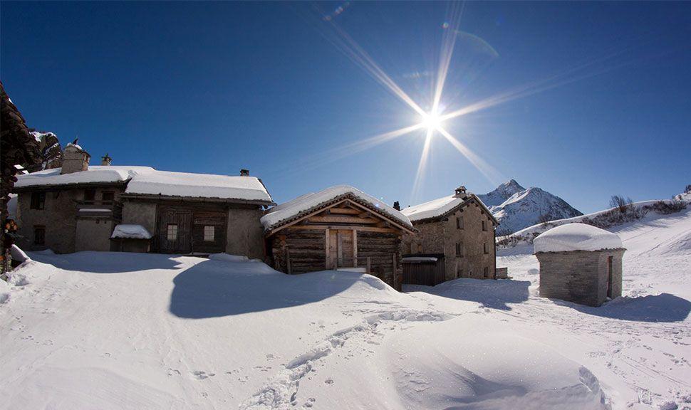Winterlandschaft Bergell