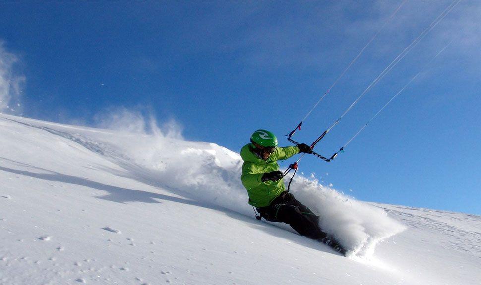 Kite-Snowboarden in Haugastol