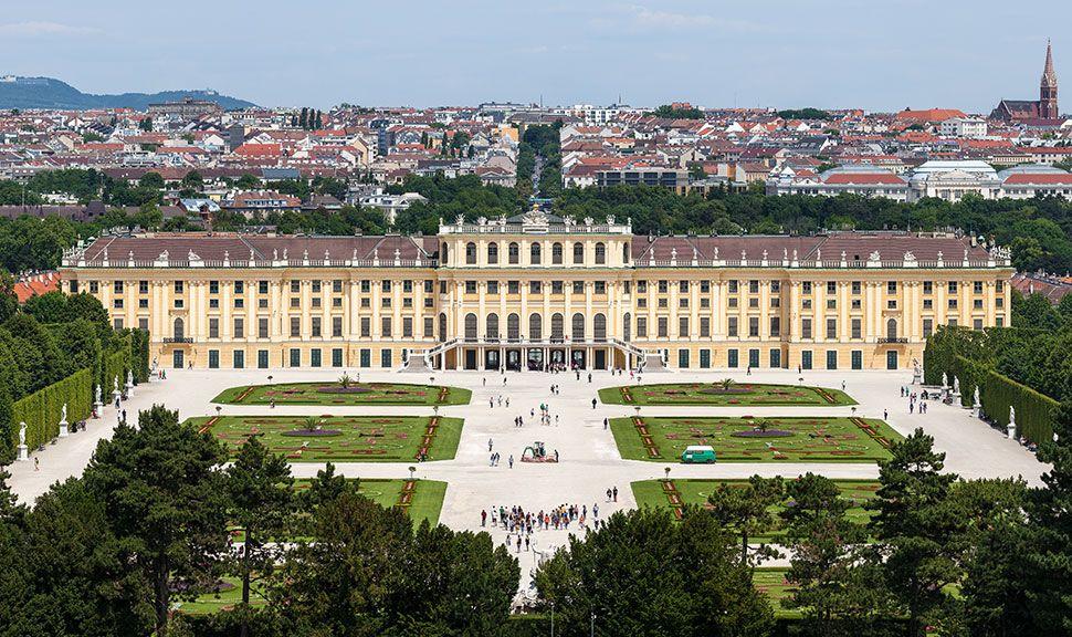 Wien Schloss von oben