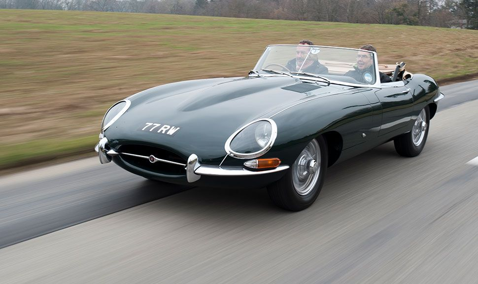Cabrio-Version des Jaguar E-Type