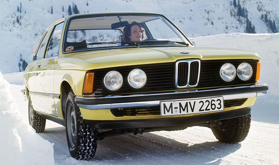 Der BMW 3er E21 im Schnee
