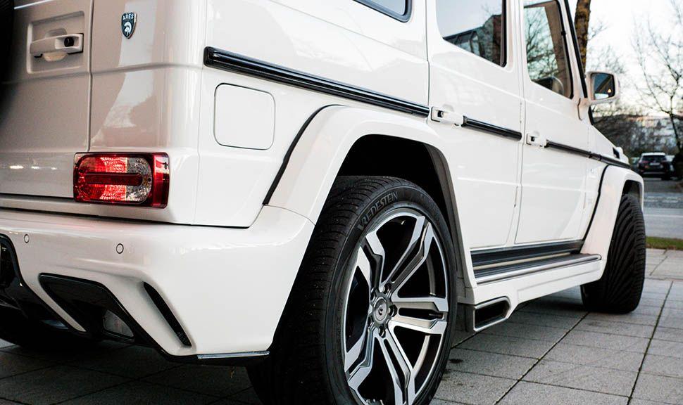 Mercedes AMG G63 by ARES Design Detailaufnahme schräg rechts hinten