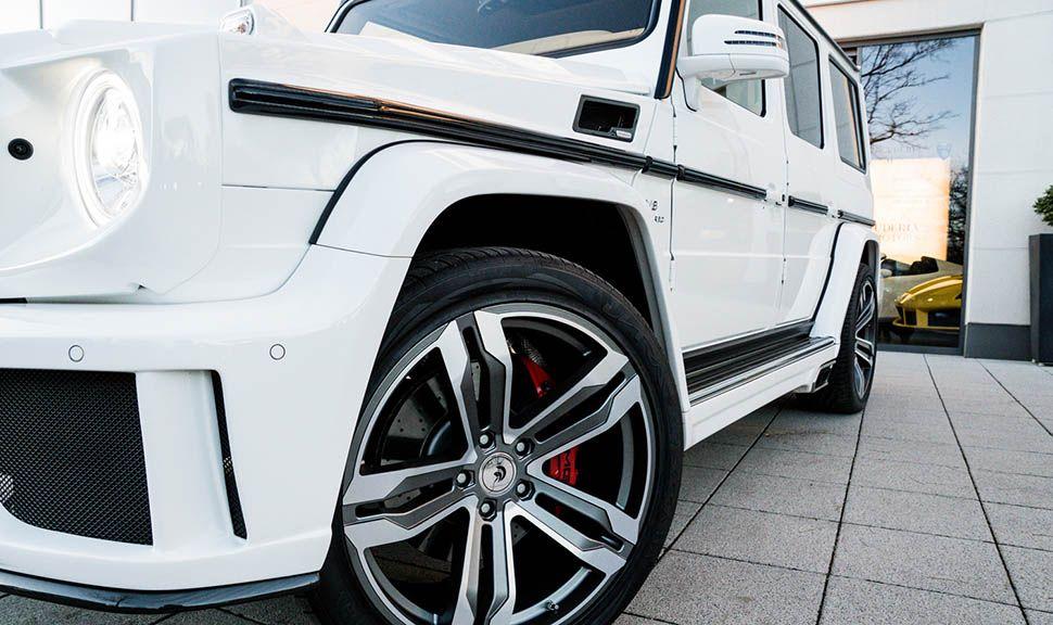 Detailaufnahme Mercedes AMG G63 by ARES Design linke Seite
